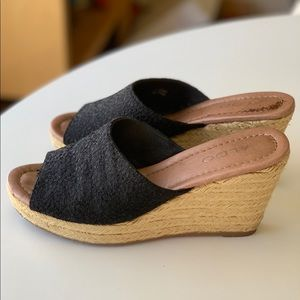 Aldo Black Lace Slip-on Espadrilles 7.5